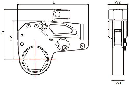 Гайковерт гидравлический кассетный ГГМК-11800 (комплект) - схема