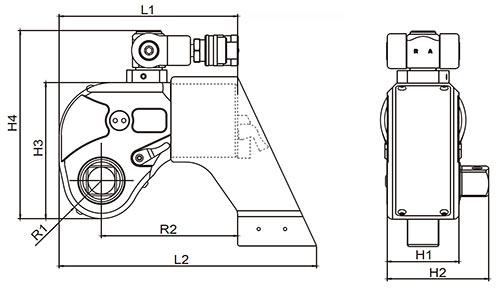 Гайковерт гидравлический торцевой ГГМТ-26700 - схема гидроключа